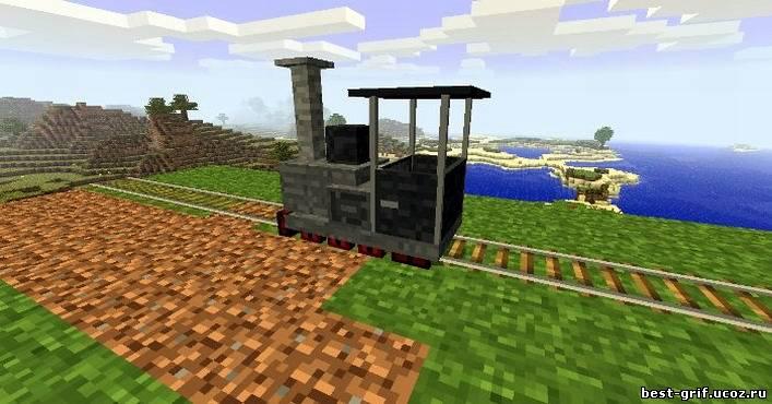 как в майнкрафте сделать поезд видео